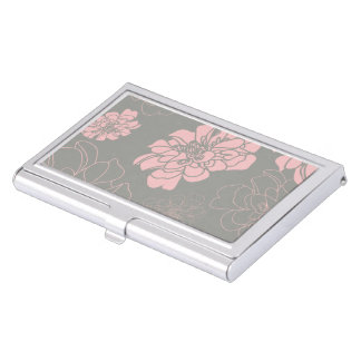 Beautiful Flower Floral Pattern Case For Business Cards