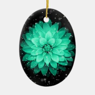 Beautiful Flower Oval Ornament