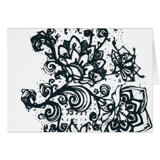 Beautiful flower pattern makes a great decoration greeting card