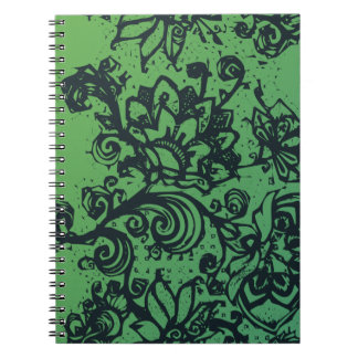 Beautiful flower pattern makes a great decoration spiral note book
