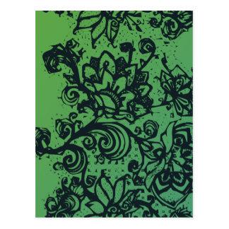 Beautiful flower pattern makes a great decoration postcard