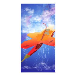 Beautiful flower photo greeting card