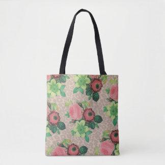 beautiful Flower Rose cheetah Tote bag