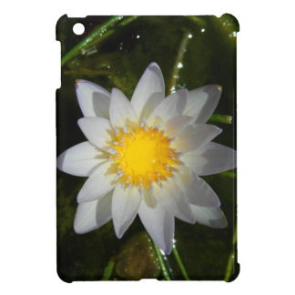 Beautiful flower white water lily iPad mini cover