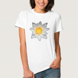 Beautiful flower white water lily tshirts