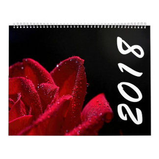Beautiful Flowers 2018 Calendar