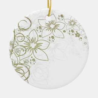Beautiful Flowers Christmas Ornament
