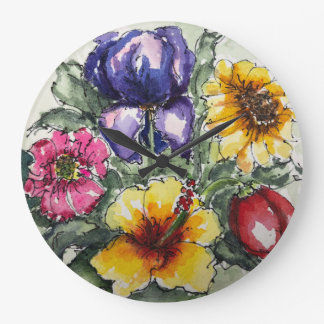 Beautiful Flowers Clock