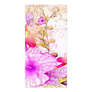 Beautiful flowers i photo card template