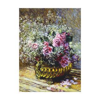 Beautiful Flowers in a Pot Claude Monet Fine Art Canvas Print