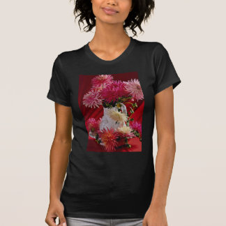 Beautiful Flowers in white vase T-shirts