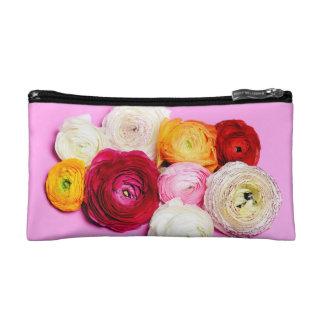 Beautiful flowers makeup bag