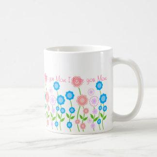 Beautiful flowers mug,I love you Mom ...