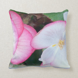 Beautiful flowers on throw pillow cushions