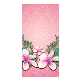 Beautiful flowers personalised photo card