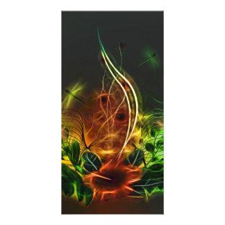 Beautiful flowers customised photo card