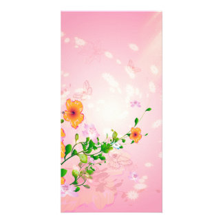 Beautiful flowers photo card template