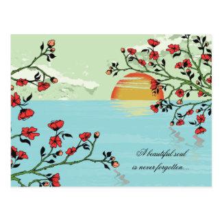 Beautiful flowers -sympathy cards postcards
