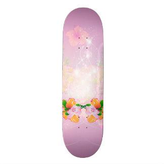 Beautiful flowers with soft purple background skate board decks