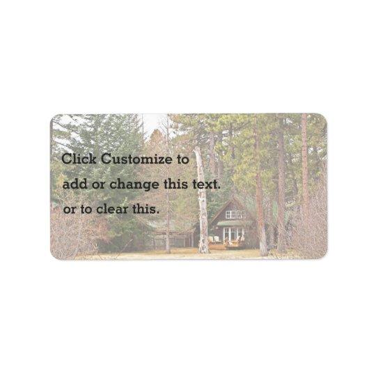 Beautiful Forest Cabin Address Label
