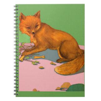 beautiful fox print notebook
