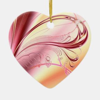 Beautiful fractal heart ceramic heart decoration