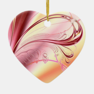 Beautiful fractal heart christmas tree ornaments