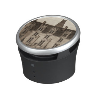 Beautiful French Chateau in Sepia Tones Bluetooth Speaker