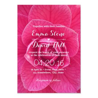 Beautiful Fresh Pink Flower Garden Wedding 13 Cm X 18 Cm Invitation Card