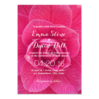 Beautiful Fresh Pink Flower Garden Wedding 13 Cm X 18 Cm Invitation Card