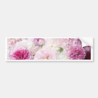 Beautiful,fresh,pink,white,roses,pattern,vivid,fun Car Bumper Sticker