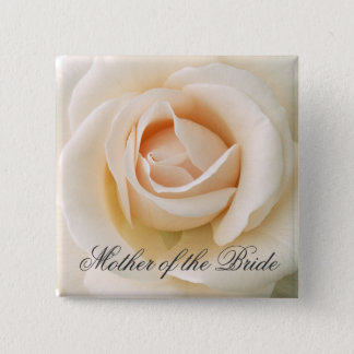 Beautiful Fresh Rose 15 Cm Square Badge