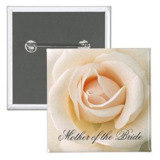 Beautiful Fresh Rose 15 Cm Square Badge