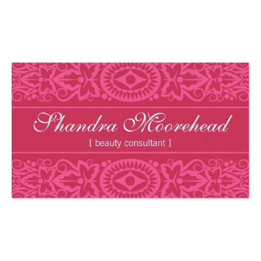 Beautiful Fuchsia Beauty Consultant Business Card