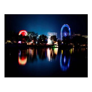 Beautiful Funfair Lights Postcard