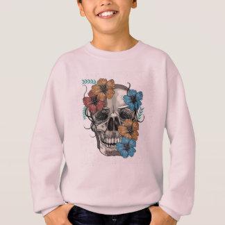 Beautiful funny dead Mexican Women head Skull Sweatshirt
