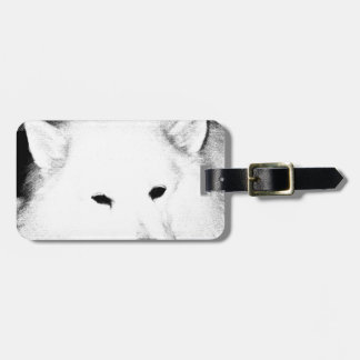 Beautiful furry Samoyed white dog Bag Tag