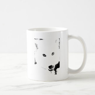 Beautiful furry Samoyed white dog Basic White Mug