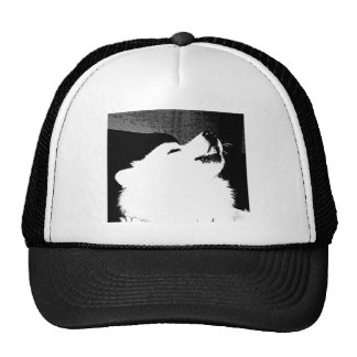 Beautiful furry Samoyed white dog Trucker Hat