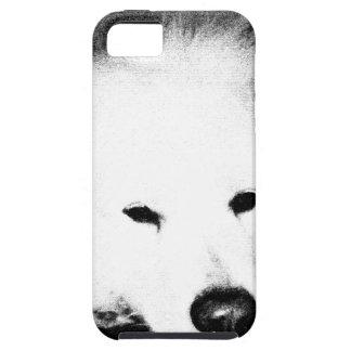 Beautiful furry Samoyed white dog iPhone 5 Case