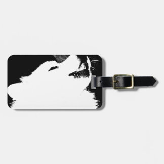 Beautiful furry Samoyed white dog Bag Tag