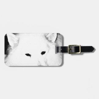 Beautiful furry Samoyed white dog Travel Bag Tag