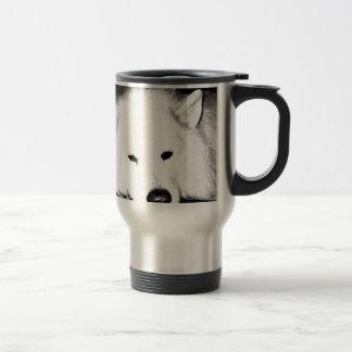 Beautiful furry Samoyed white dog Mug