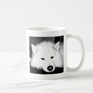 Beautiful furry Samoyed white dog Coffee Mugs