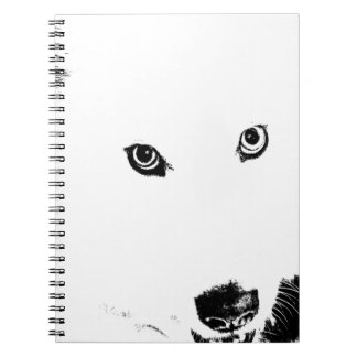 Beautiful furry Samoyed white dog Journal