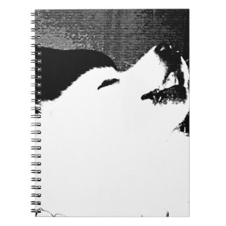 Beautiful furry Samoyed white dog Note Books