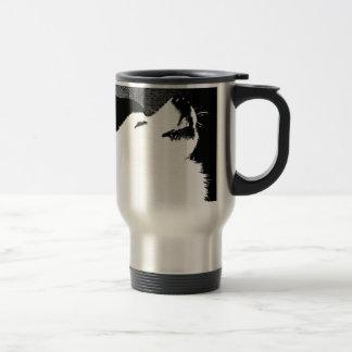 Beautiful furry Samoyed white dog Stainless Steel Travel Mug