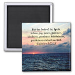 BEAUTIFUL GALATIANS FRUITS OF THE SPIRIT SQUARE MAGNET