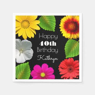 Beautiful Garden Birthday Disposable Napkin