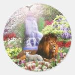 Beautiful Garden Round Stickers